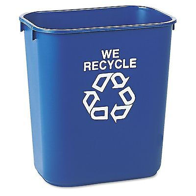 Rubbermaid Commercial Deskside Recycling Container - Blue - 13 5/8 qt. 2 pack