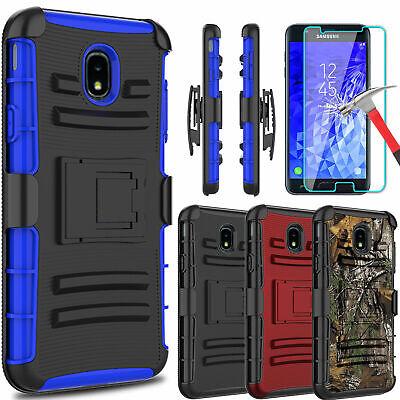 For Samsung Galaxy J7 V 2018/Crown/Refine/Star Kickstand Case + Screen Protector
