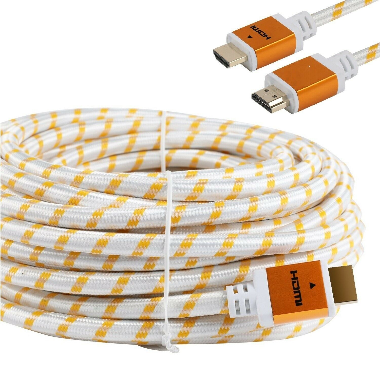 Premium 30ft Feet HDMI CABLE 1.4 BLURAY 3D HDTV XBOX LCD HD TV 1080P White Us Consumer Electronics