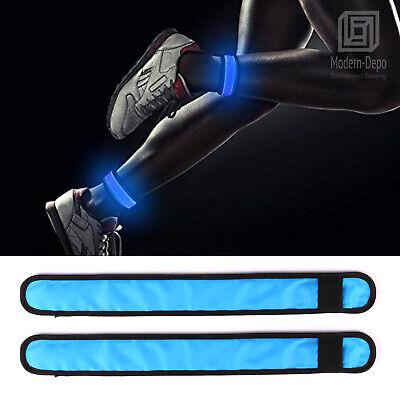 2 Pack LED Slap Bracelet Glowing Arm Band Light Up Night Safety Wristband 35cm - Light Up Wristband