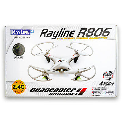 Rayline R806 RC Quadrocopter, 2.4 GHz, 4 Kanal, HD Kamera, Drohne