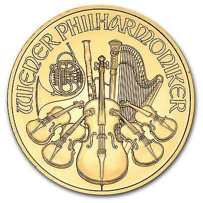 Austria 1/4 oz Gold Philharmonic BU (Random Year) - SKU #11176