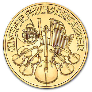 1/4 oz Gold Austrian Philharmonic Coin - Random Year