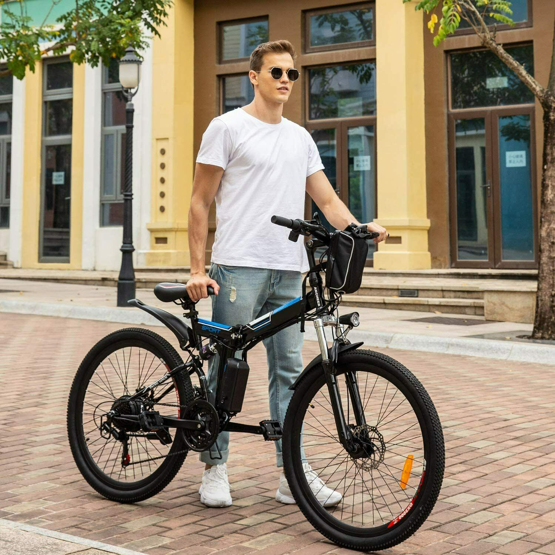 "Ancheer Elektrofahrrad 26"" Elektro Fahrrad Fatbike ALU-Klappbar Faltrad EBike DE"