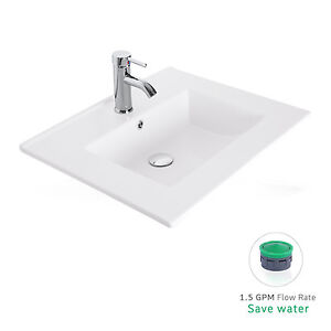 Bathroom Sinks Rectangular Drop In drop in bathroom sink | ebay