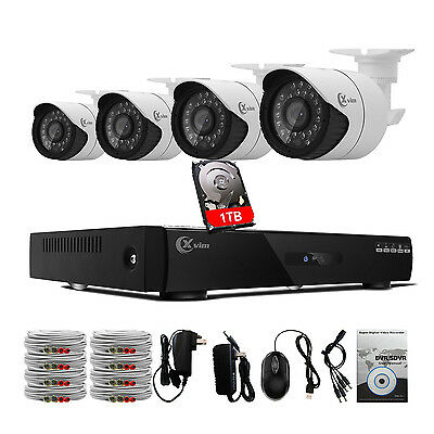 XVIM 8CH 1080N HDMI DVR Outdoor 1800TVL Video CCTV Security Cameras System 1TB