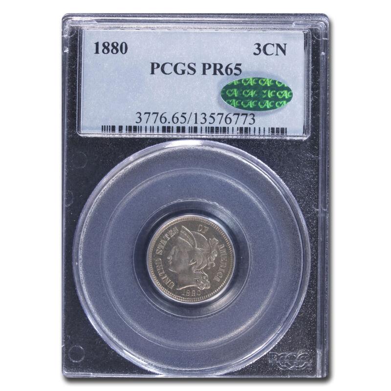 1880 Three Cent Nickel PR-65 PCGS CAC - SKU#212285