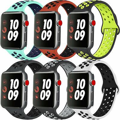 Apple Watch Nike Silicon Sports Strap 38mm 40mm 42mm Soft Silicone UK SELLER