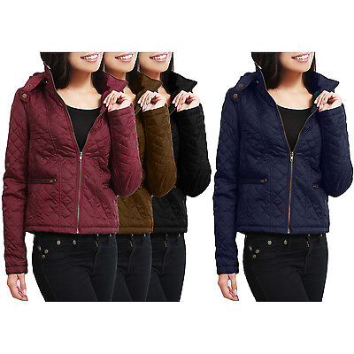 NE PEOPLE Womens Light Weight Long Sleeve Quilted Zip Up Jac