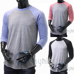 Baseball T Shirts 3 4 Sleeve Raglan Super Soft Fitted Tee