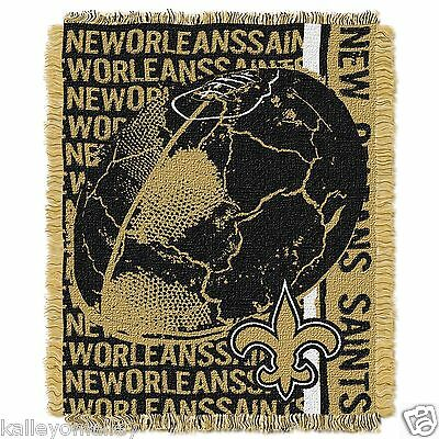 "NFL New Orleans Saints 48""x 60"" Triple Woven Jacquard Throw"