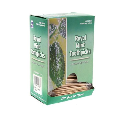 Individual Cello Wrapped Toothpicks Mint, 1000 Ct Box