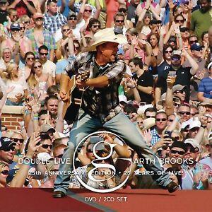 GARTH BROOKS 'DOUBLE LIVE' (25th Anniversary Edition) DVD + 2 CD SET (2014)