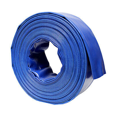 Bisupply Discharge Hose 3 In By 100 Ft Flat Lay Pvc Sump Pump Hose Blue
