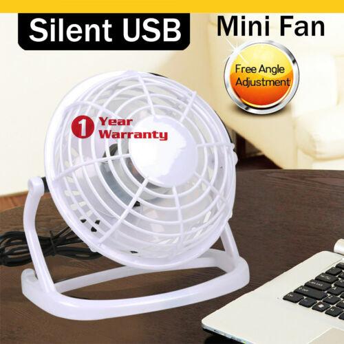 Mini Portable Super Quiet USB Desk Fan Home Office Electric