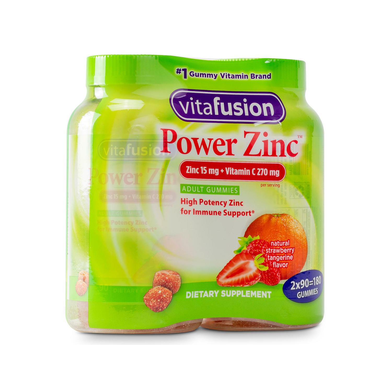 Vitafusion Power Zinc Gummy Vitamin (180 ct.) fresh FREE SHIPPING