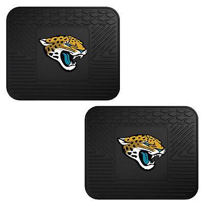 NFL Jacksonville Jaguars Car Truck 2 Back Utility All Weather Rubber Floor Mats Jacksonville Jaguars Nfl Car Mats