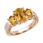 Citrine 14k Rose Gold Fine Gemstone Rings