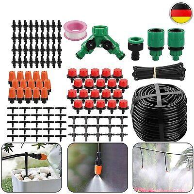 40M Bewässerungssystem DIY Micro Bewässerung Tropfschlauch Garten Drippers Neu