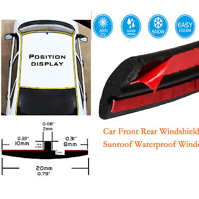 For Auto Car Front Rear Roof Windshield Sunroof Triangular Window Guard 15ft