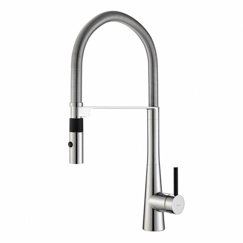 """Kraus Crespo 20"""" Commercial Single Handle Kitchen Faucet w/ Pull Down Sprayhead"""