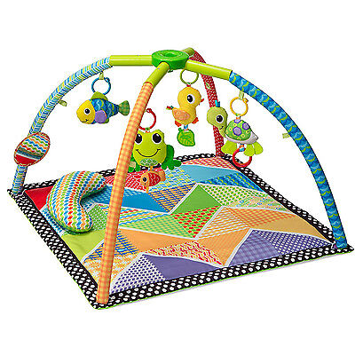 Baby Activity Play Gym Mat Infant Soft Floor Playmat Twist and Fold Toy Pond