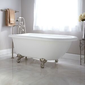 cast iron clawfoot tub restoration. Clawfoot Tub Acrylic by Signature Hardware  NEW White Plumbing Fixtures eBay