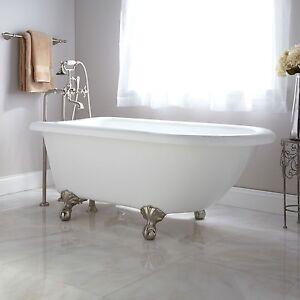 Clawfoot Tub Acrylic by Signature Hardware  NEW WhiteAcrylic Clawfoot Tub  Plumbing   Fixtures   eBay. Clawfoot Baby Bath Tub. Home Design Ideas