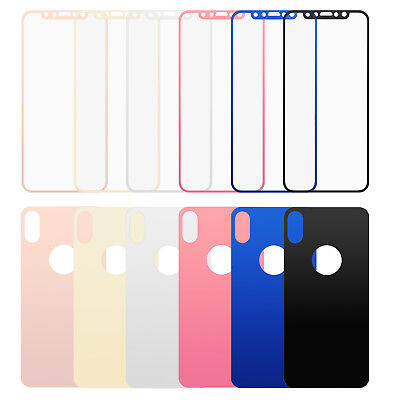10pcs/lot Front+Back Plating Mirror Tempered Glass Protective Film for iPhone X