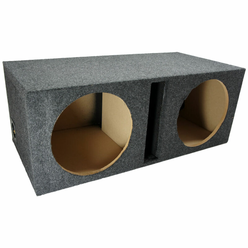 "Car Audio Dual 12"" Vented Subwoofer Stereo Sub Box Ported Enclosure Speaker"