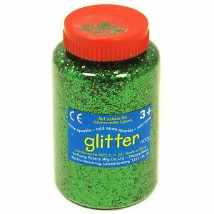 Green art and craft glitter 400g tub ebay for Arts and crafts glitter