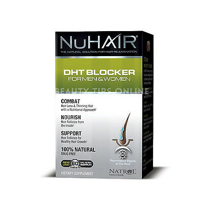 NuHair DHT Blocker Hair Regrowth Formula Men Women Nu Hair 60 Tablets