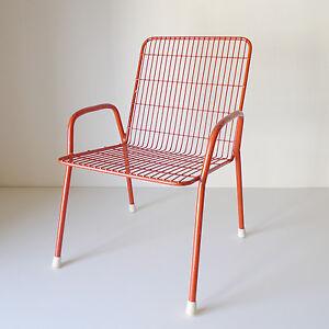 chaise fauteuil enfant metal design ann es 60 70 vintage 1970 era ebay. Black Bedroom Furniture Sets. Home Design Ideas