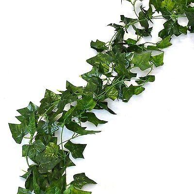 156 feet Fake Foliage Garland Leaves Decoration Artificial Greenery Ivy Vine ...