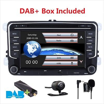 "7""Car GPS Stereo Radio SATNAV DVD for VW Passat CC Jetta Caddy Golf MK5 MK6 DAB+ for sale  Shipping to Ireland"