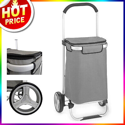 Folding Shopping Cart With Wheels Tote Cart Utility Cart Grocery Foldable Cart