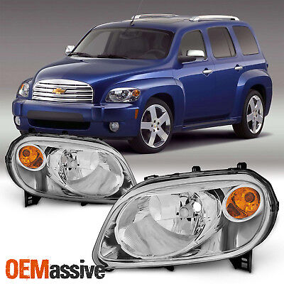 Fit 2006-2011 Chevy HHR Amber Replacement Headlights Clear Headlamps (2008 Chevrolet Hhr Replacement)