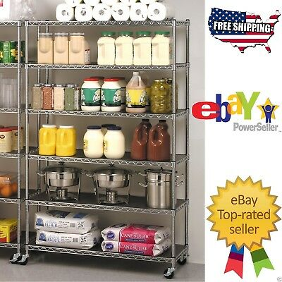 Seville Rolling Garage Commercial Retail Metal Storage Shelving Rack 3