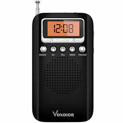 Portable Digital Radio with Alarm Clock - Best Reception and Longest Lasting....