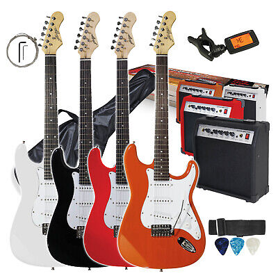 CHOICE Johnny Brook Full Size Electric Guitar Starter Kit & 20W Combo Amplifier