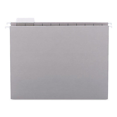 Smead Hanging File Folders 15 Tab 11 Point Stock Letter Gray 25box 64063