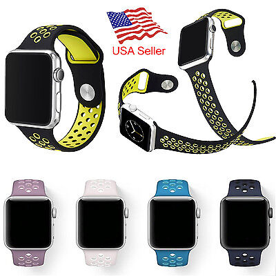 Replacement Sports Silicone Watch Band For Apple Watch Nike  Iwatch Series 3 2 1