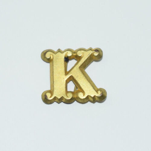 "Original Brass Zouave-Style Letter ""K"" Hat Insignia - Civil War Era"