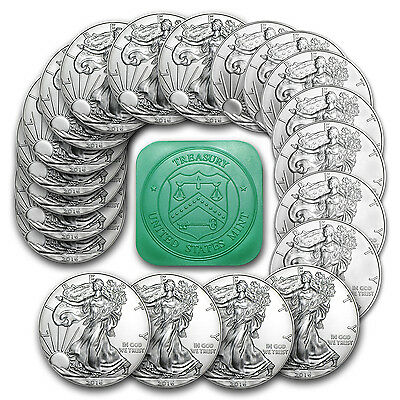 2016 1 oz Silver American Eagle Coins BU (Lot, Roll, Tube of 20) - SKU #95425