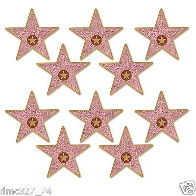 (10 HOLLYWOOD Awards Night Party Decorations Mini STAR Walk of Fame CUTOUTS 5