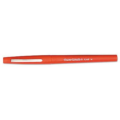 Guard Flair Pen - Paper Mate Point Guard Flair Needle Tip Stick Pen Red Ink 0.7mm Dozen 8420152