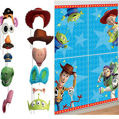 Toy Story 4 Scene Setter + Props Birthday Wall Decoration Poster Party Supplies](Toy Story Decoration)