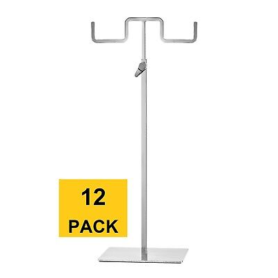 Polmart Adjustable Double Hook Handbag Purse Display Stand H213 Pack Of 12