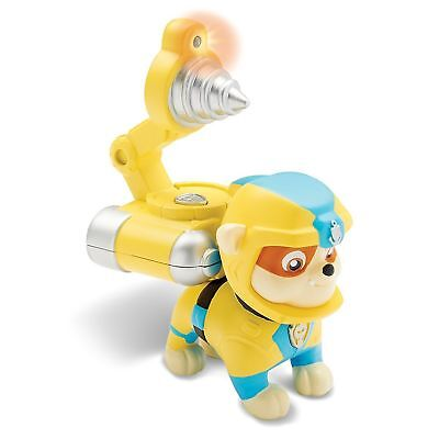 NEW Paw Sea Patrol Pup Pad Light Up Rubble Dog w Animated Mission Card Toy