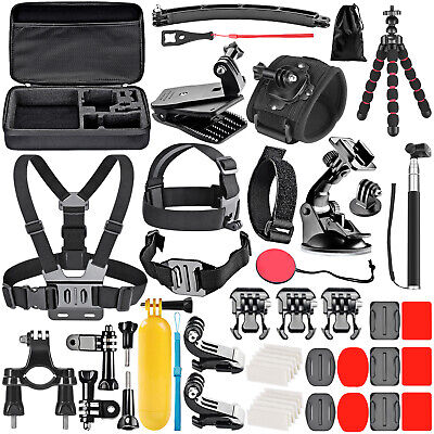 Neewer Upgraded 50-in-1 Action Camera Accessory Kit Compatible with GoPro Hero